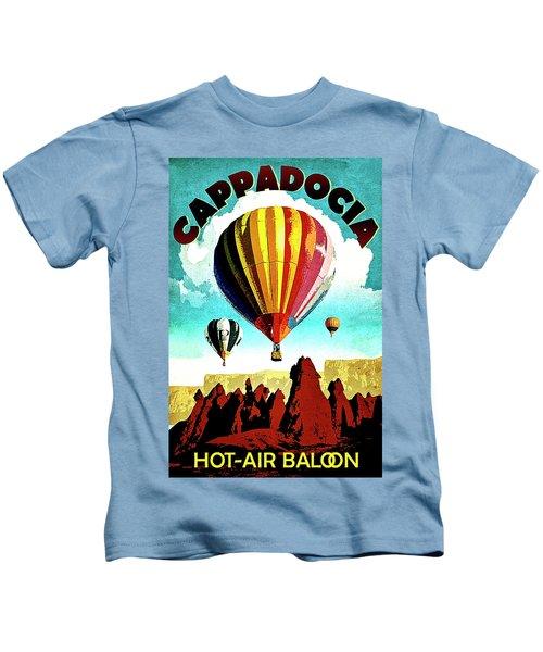 Cappadocia, Turkey, Hot Air Balloons Kids T-Shirt