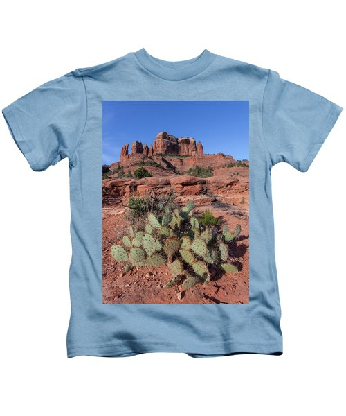Cathedral Rock Cactus Grove Kids T-Shirt