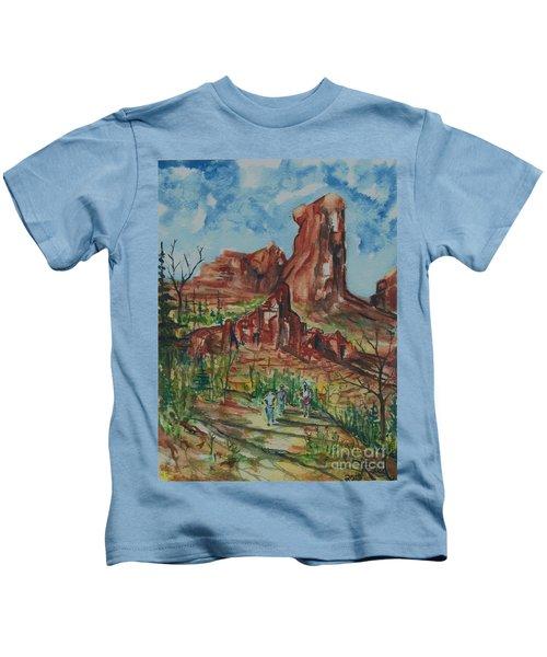 Hiking Cathedral Rock,  Sedona, Az. Kids T-Shirt