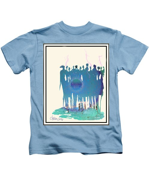 Women Chanting - Recharging The Earth Kids T-Shirt