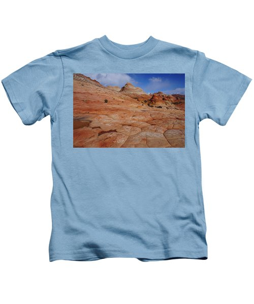 Checkered Red Rock Kids T-Shirt