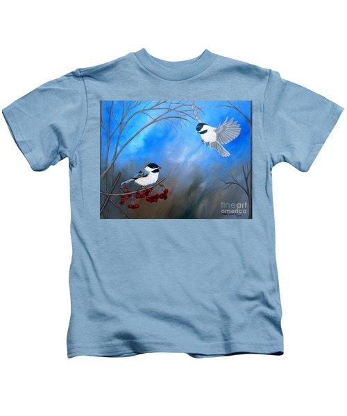 Chickadees  Kids T-Shirt