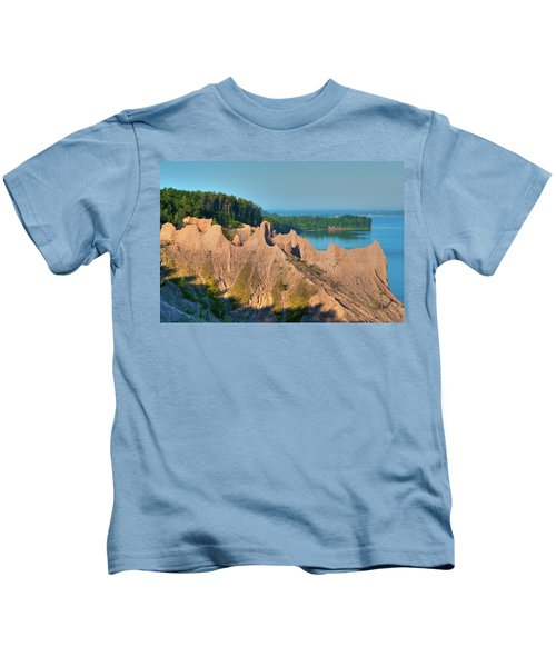 Chimney Bluffs 1750 Kids T-Shirt