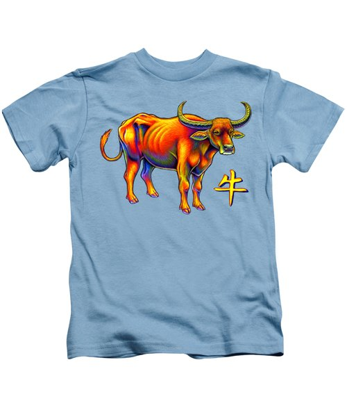 Chinese Zodiac - Year Of The Ox Kids T-Shirt