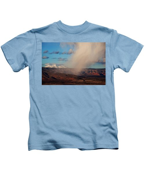 Christmas Day Snow Mix San Francisco Peaks Kids T-Shirt