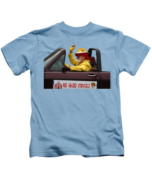 Christmas Parade Clown In Car Kids T-Shirt