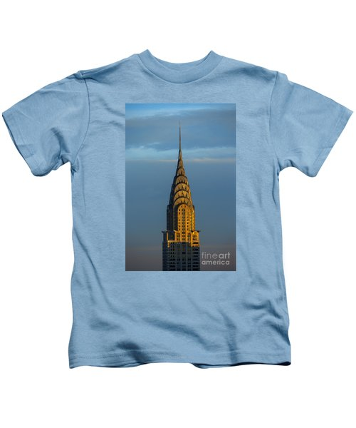 Chrysler Building In The Evening Light Kids T-Shirt