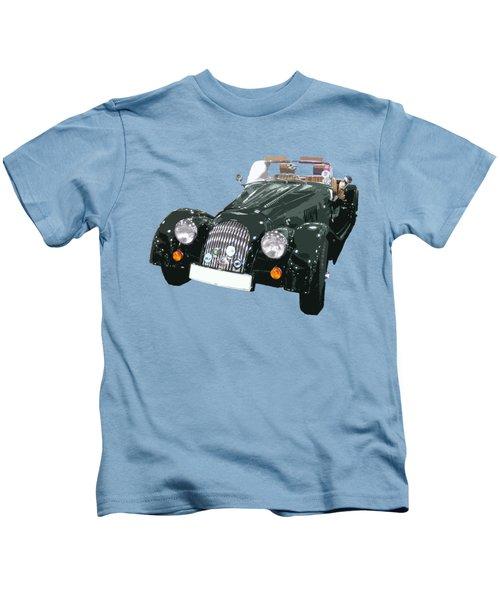 Classic Motor Art In Green Kids T-Shirt