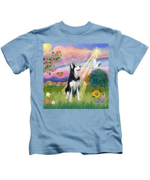 Cloudangel #1 - Siberian Husky Kids T-Shirt