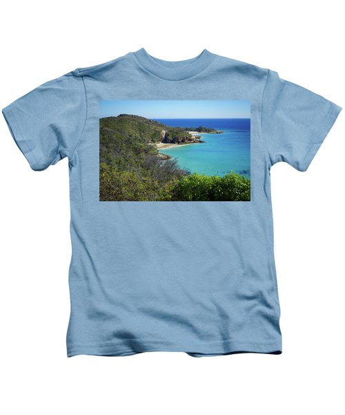 Coastline Views On Moreton Island Kids T-Shirt