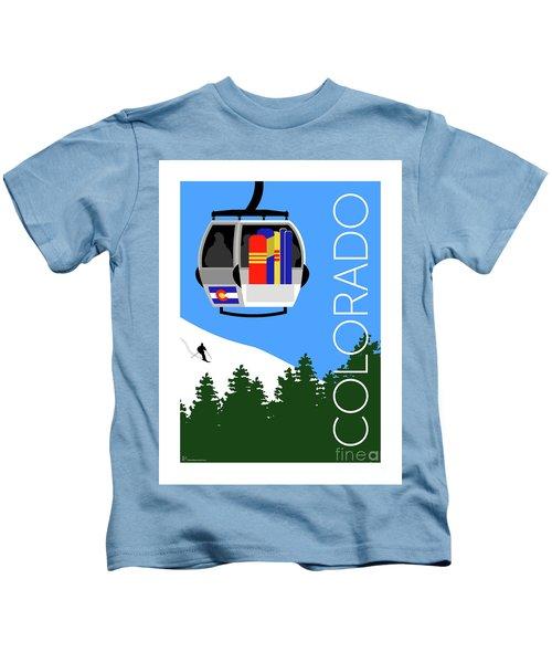 Colorado Ski Country Blue Kids T-Shirt