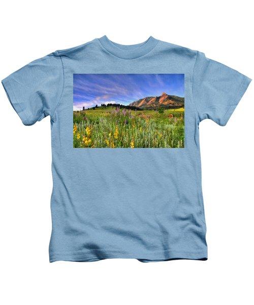 Colorado Wildflowers Kids T-Shirt