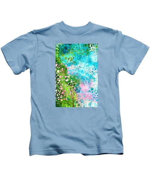 Colorful Art - Enchanting Spring - Sharon Cummings Kids T-Shirt by Sharon Cummings