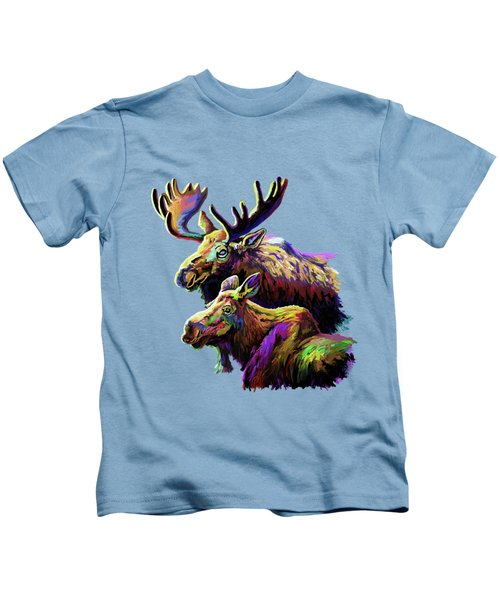 Colorful Moose Kids T-Shirt