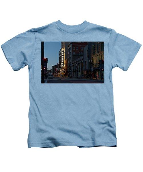 Colorful Night On Gay Street Kids T-Shirt