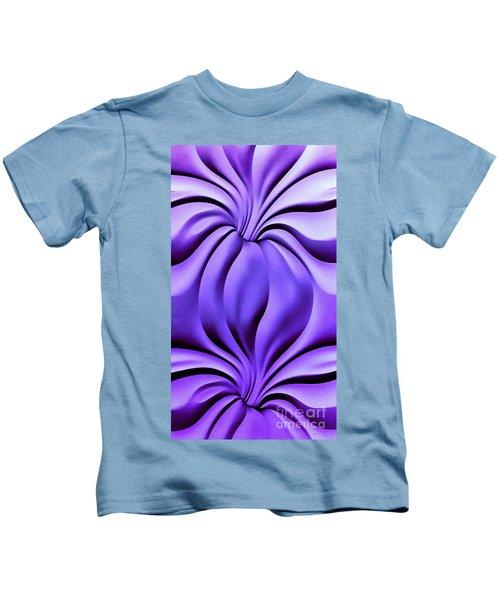 Contemplation In Purple Kids T-Shirt