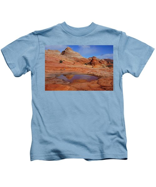 Coyote Butte Reflection Kids T-Shirt