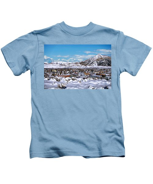Crested Butte Panorama Kids T-Shirt