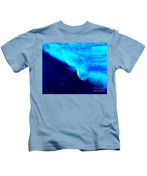 Crystal Blue Wave Painting Kids T-Shirt