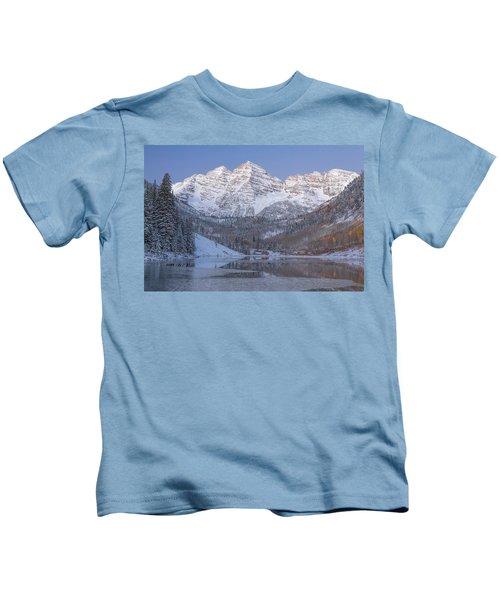Dawn At Maroon Bells 2 Kids T-Shirt
