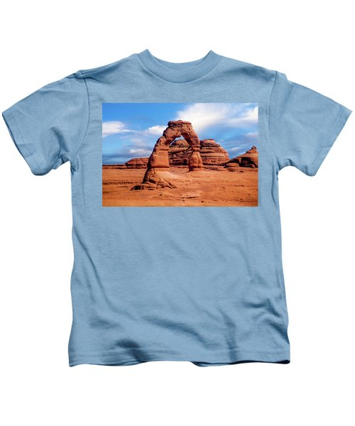 Delicate Arch From Lower Viewpoint Kids T-Shirt