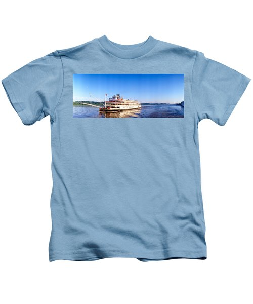 Delta Queen Steamboat On Mississippi Kids T-Shirt
