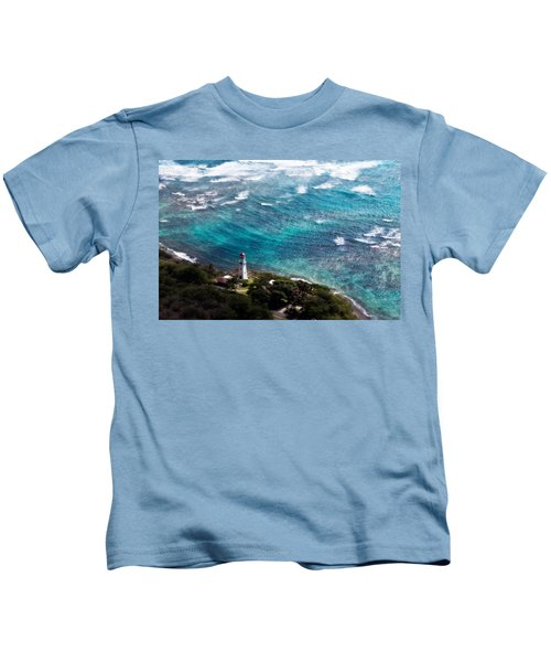 Diamond Head Lighthouse Kids T-Shirt
