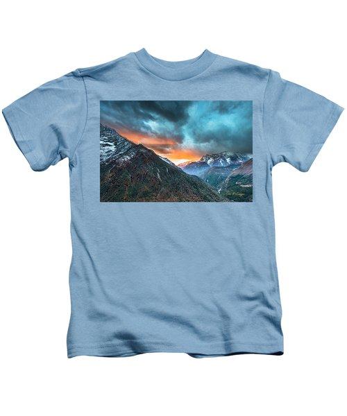 Dingboche Sunrise Kids T-Shirt