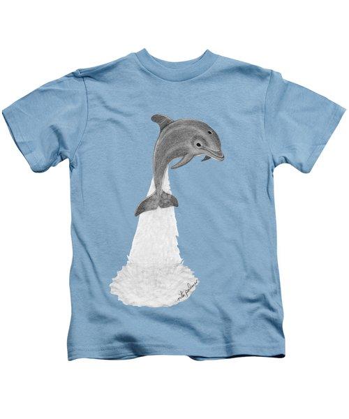 Dolphin #2 Kids T-Shirt by Rita Palmer