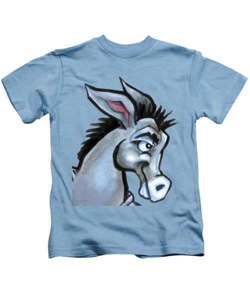 Donkey Kids T-Shirt by Kevin Middleton