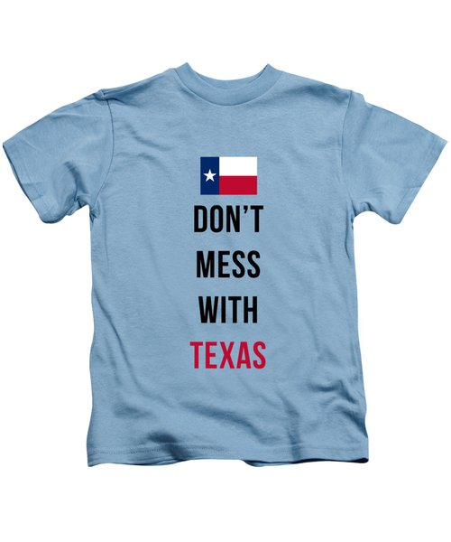 Don't Mess With Texas Tee Blue Kids T-Shirt