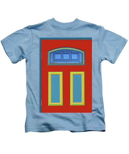 Door - Primary Colors Kids T-Shirt