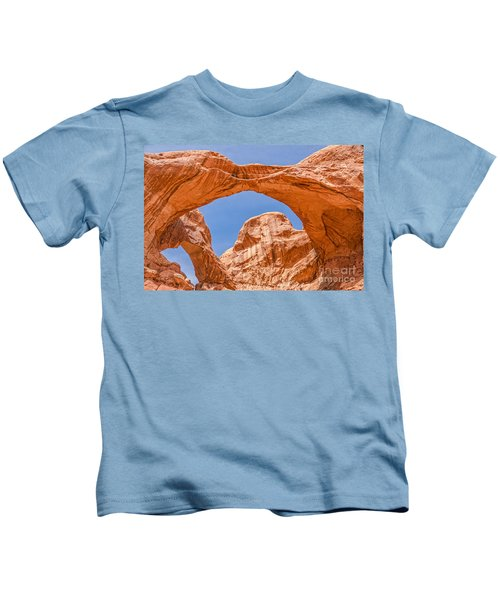 Double Arch At Arches National Park Kids T-Shirt