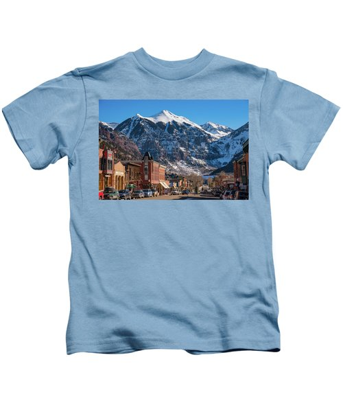 Downtown Telluride Kids T-Shirt