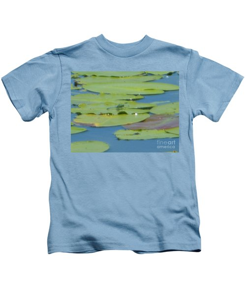 Dragonfly On Lily Pad Kids T-Shirt