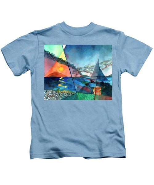 Dusk Over The Chesapeake Kids T-Shirt