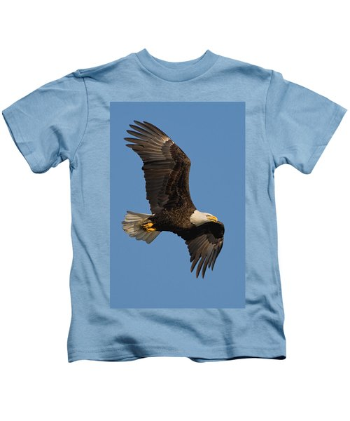 Kids T-Shirt featuring the photograph Eagle In Sunlight by William Jobes