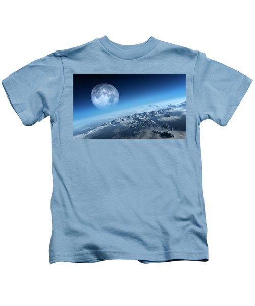 Earth Icy Ocean Aerial View Kids T-Shirt