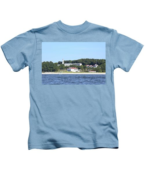 Eatons Neck Lighthouse Kids T-Shirt