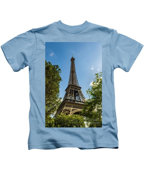 Eiffel Tower Through Trees Kids T-Shirt