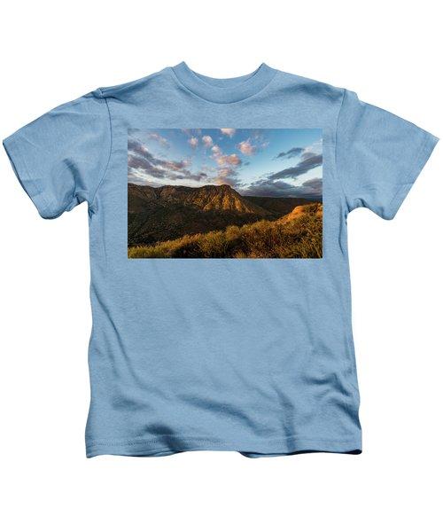 El Cajon Mountain Last Light Kids T-Shirt