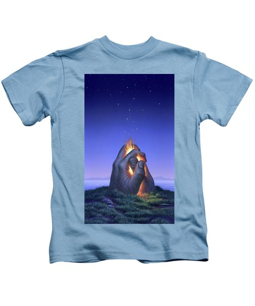 Embers Turn To Stars Kids T-Shirt