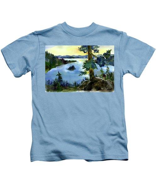 Emerald Morn, Lake Tahoe Kids T-Shirt