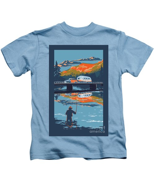 Enderby Cliffs Retro Airstream Kids T-Shirt