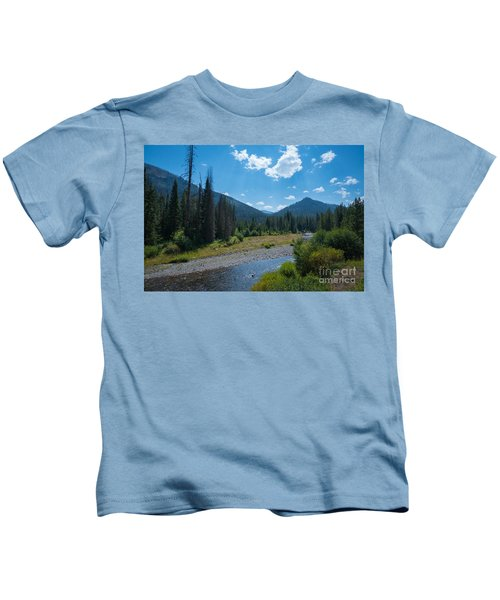 Entering Yellowstone National Park Kids T-Shirt
