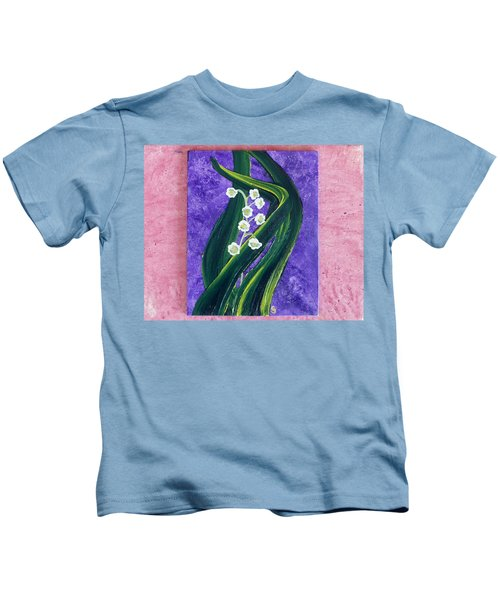 Escaping Winter Lilly Of The Valley Kids T-Shirt