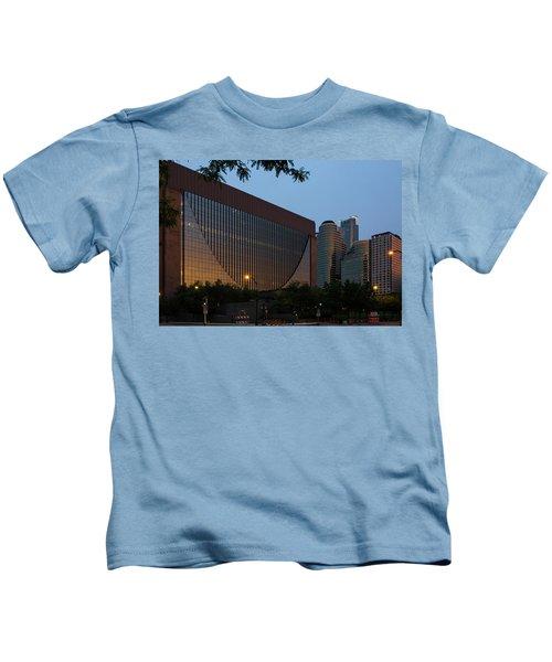 Evening In Downtown Minneapolis Kids T-Shirt