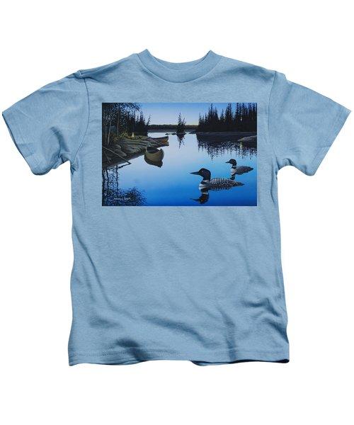 Evening Loons Kids T-Shirt