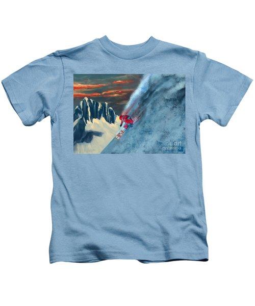 Extreme Ski Painting  Kids T-Shirt