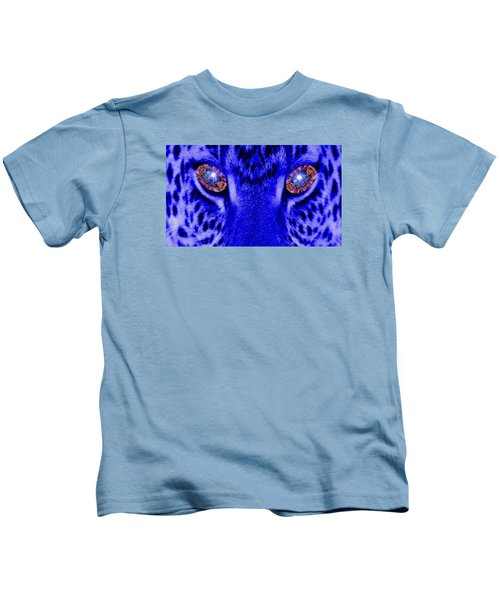 Eyes Of The Leppard Kids T-Shirt by Luisa Gatti